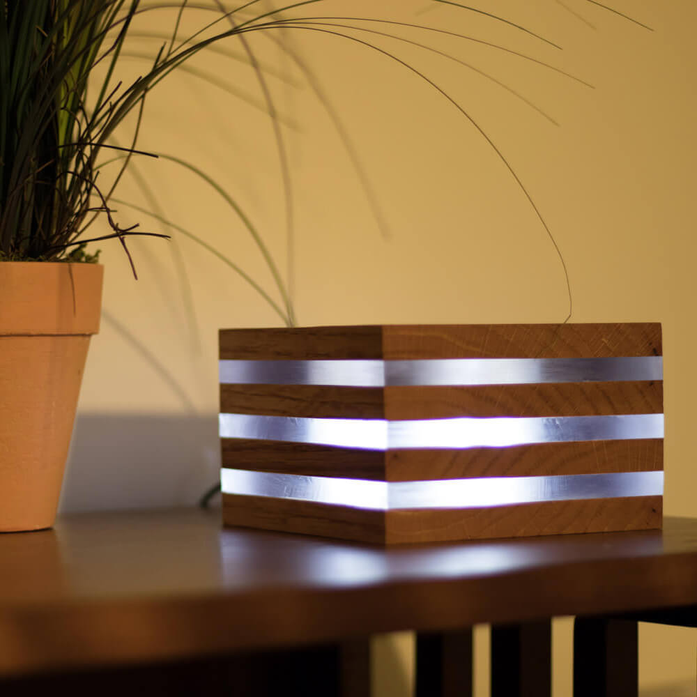 Oak LED Desk Lamp